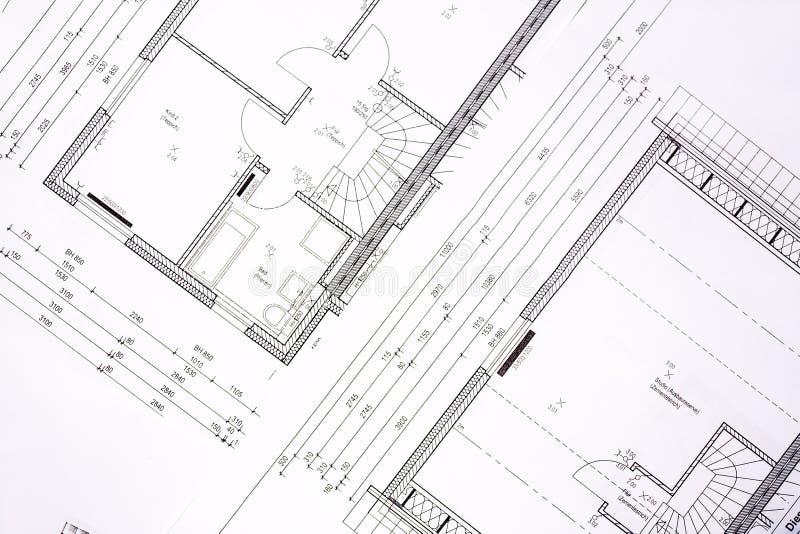 Planes de la casa de la familia foto de archivo libre de regalías