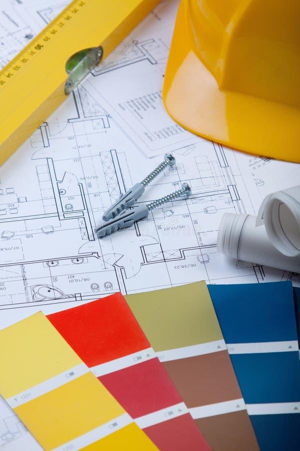 Planes de la construcción imagen de archivo