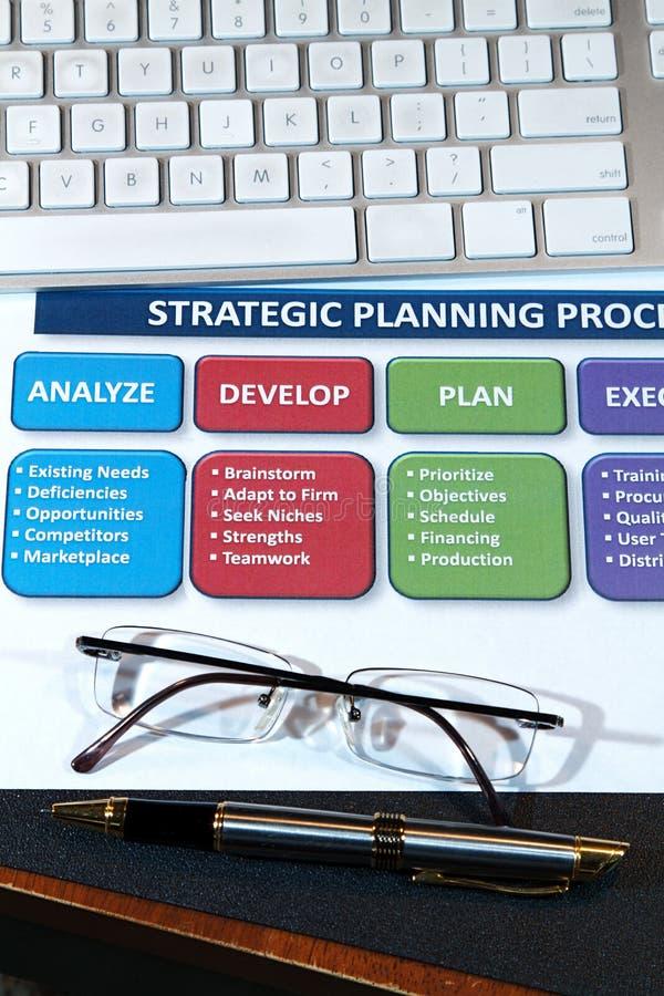 Planes de la estrategia imagen de archivo