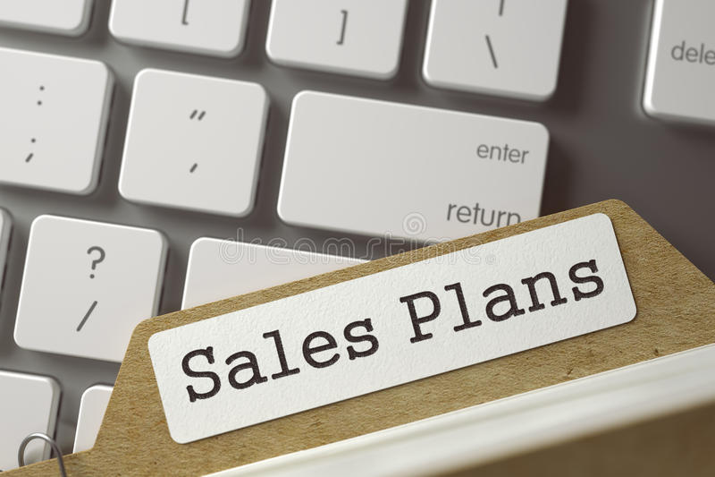 Planes de las ventas de la tarjeta de índice de la clase 3d imágenes de archivo libres de regalías