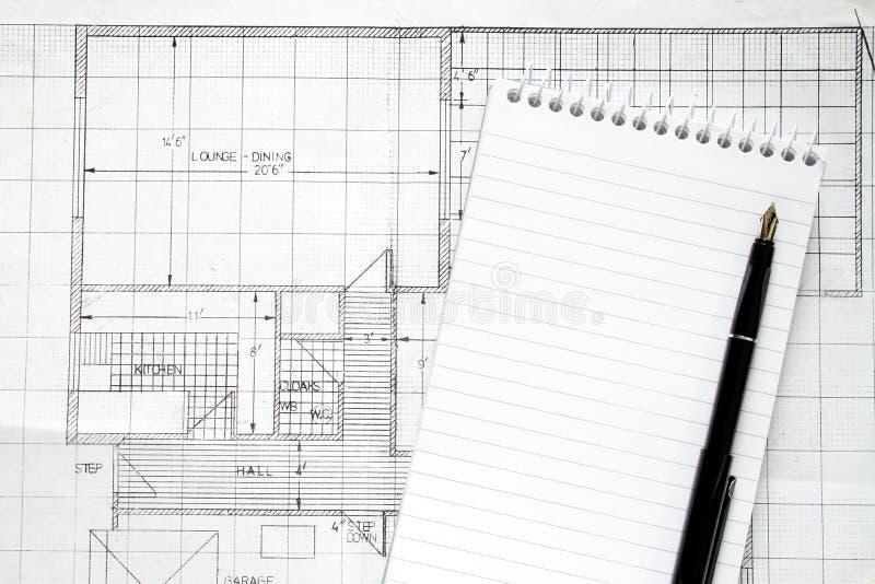 Planes del edificio foto de archivo libre de regalías