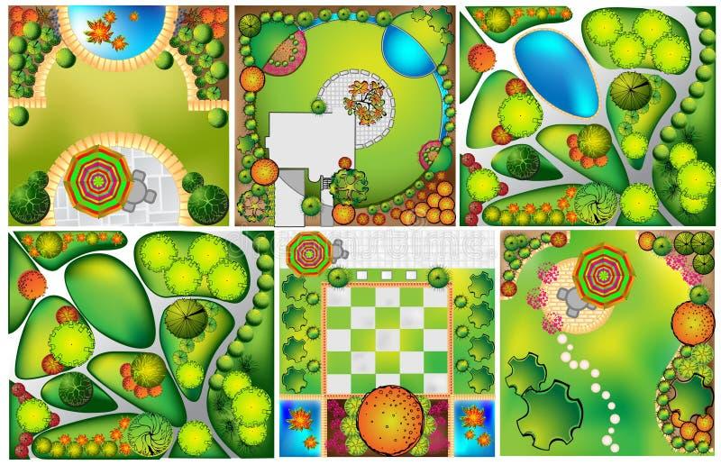Planes del paisaje del od de las colecciones stock de ilustración