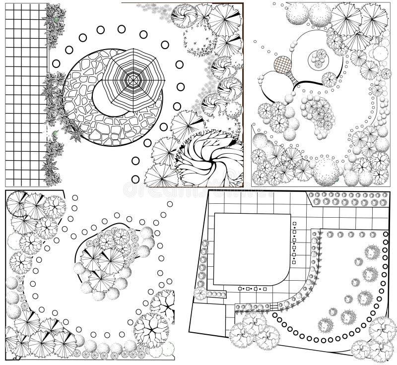 Planes del paisaje del od de las colecciones ilustración del vector
