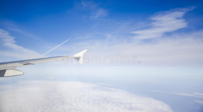 The planes. Are flying in the sky royalty free stock images