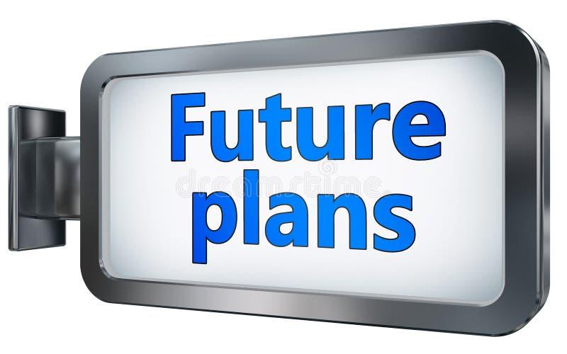 Planes futuros en la cartelera ilustración del vector