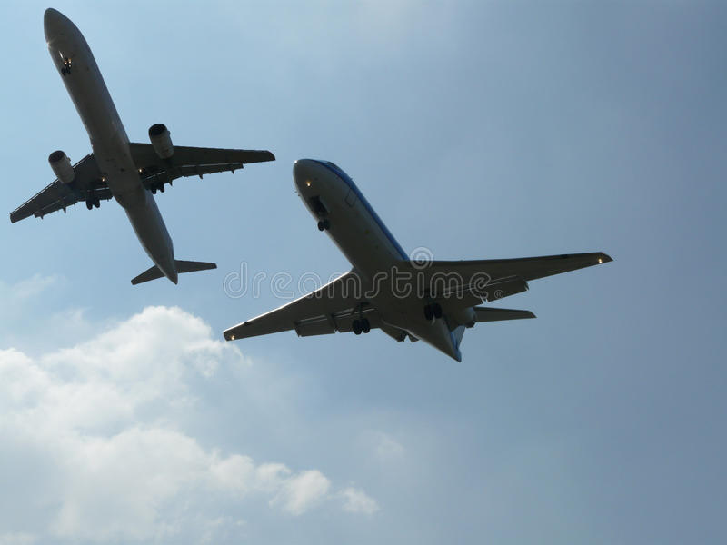 Download Planes getting close stock image. Image of airlines, dual - 9638663
