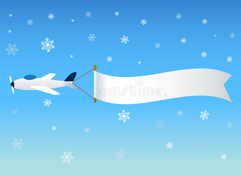 Download Planes with message stock vector. Image of sign, snow - 17655496