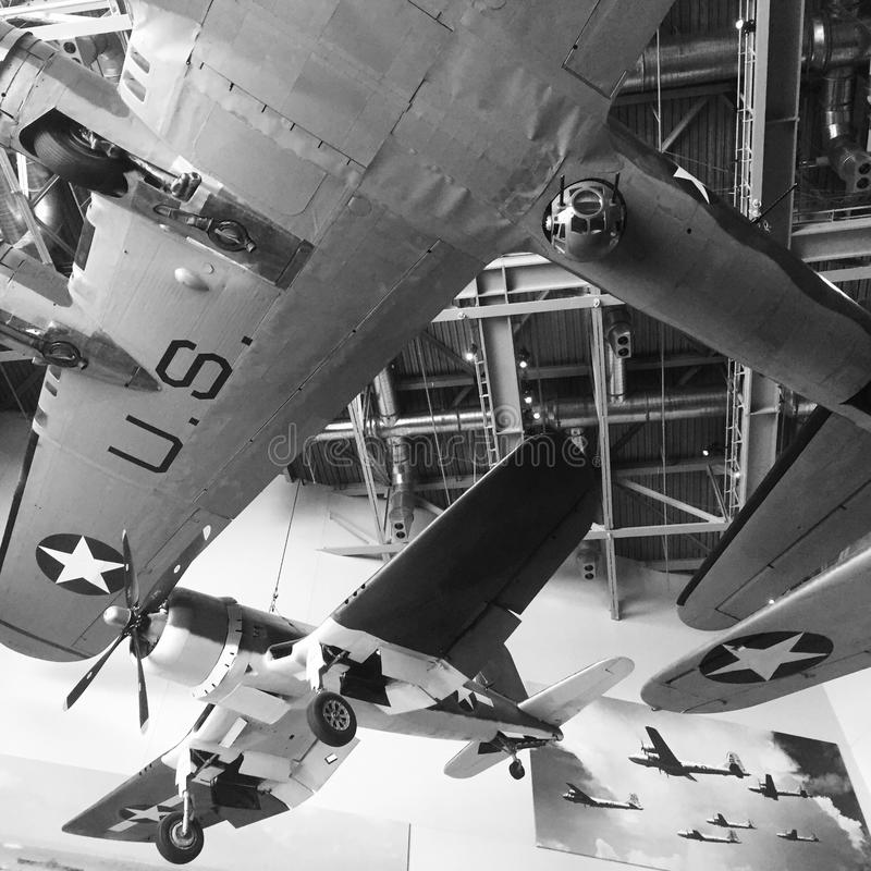 Planes in National WWII Museum royalty free stock photography