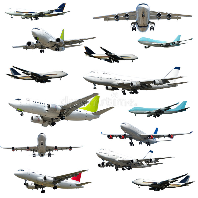 Free Planes On White Background Stock Image - 4186391