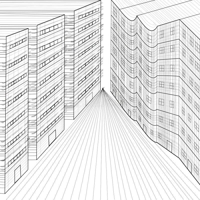 Download Planes Of Several Buildings Stock Illustration - Illustration of digital, industry: 27903827