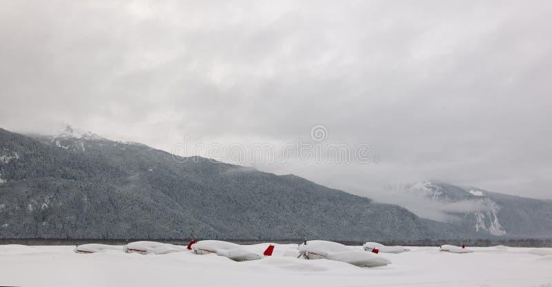 Planes Under Snow. Royalty Free Stock Photo
