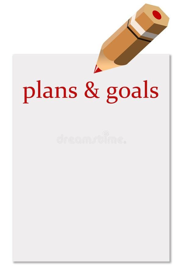 Planes y metas ilustración del vector