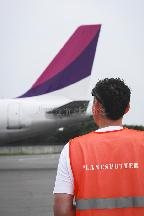 Planespotter royalty free stock image