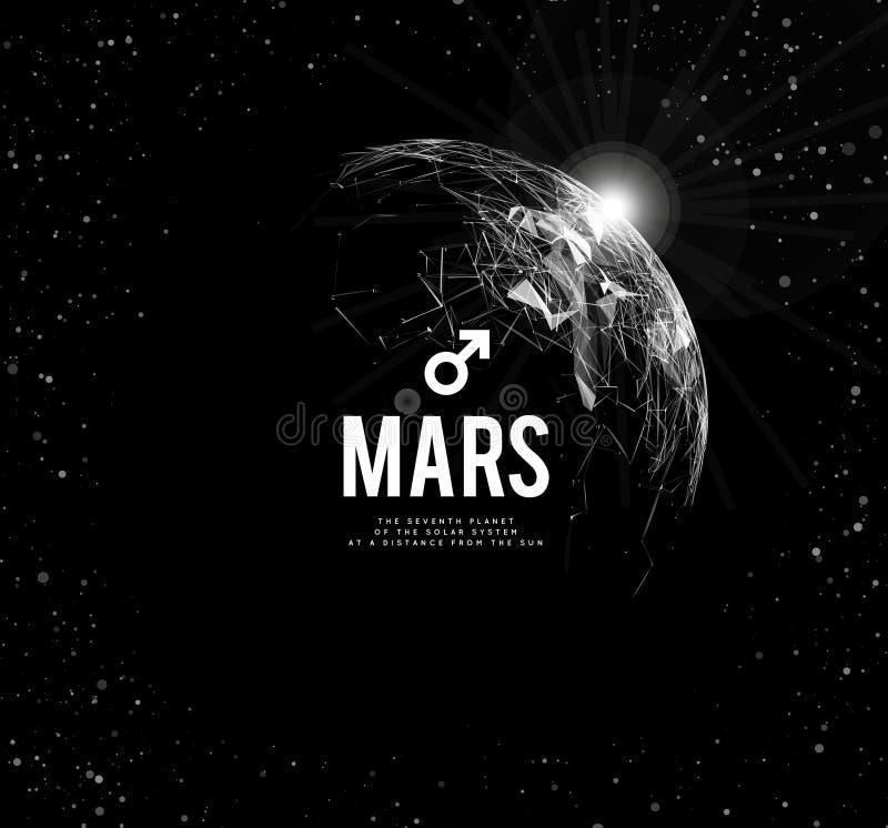 planetę mars również zwrócić corel ilustracji wektora Mars w astrologii symbolizuje krzepkość, odwaga, determinacja ilustracji