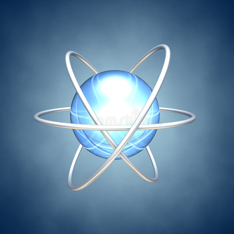 Planet/atom stock illustration