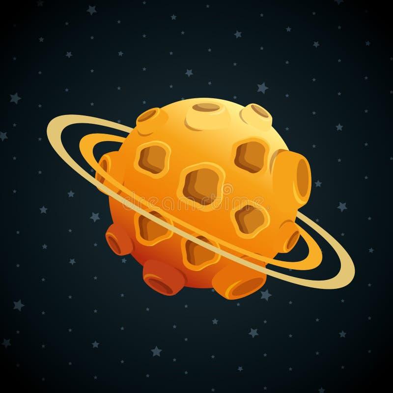 Planet av solsystemplatsen vektor illustrationer