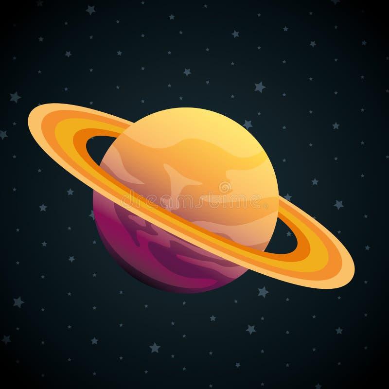 Planet av solsystemplatsen stock illustrationer