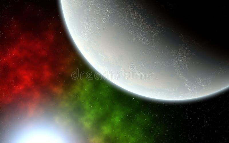 Planet and Blue Sun stock photos