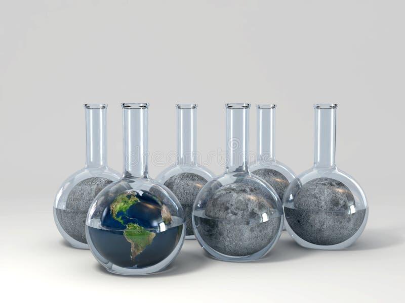 Download Planet burn stock illustration. Image of flask, substance - 14337077