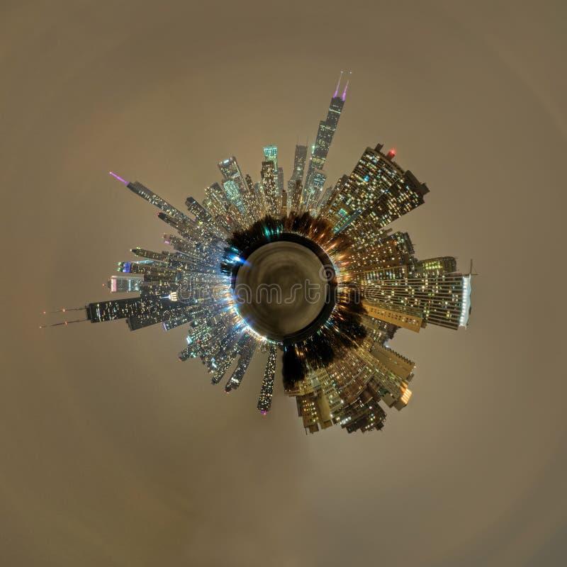Planet Chicago stockfoto