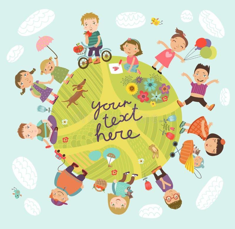 Planet of children vector illustration