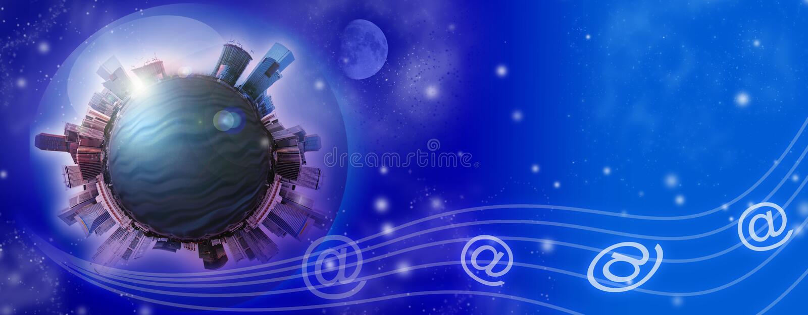 Planet City Royalty Free Stock Images
