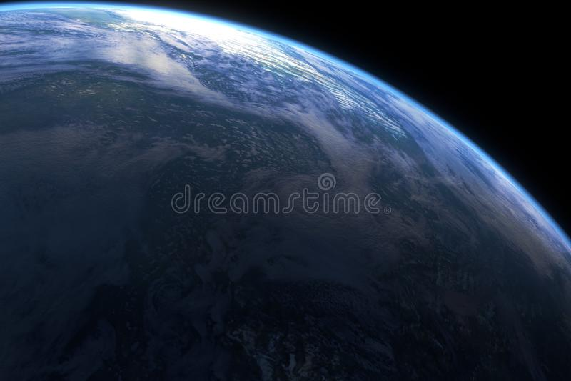 Planet closeup in beautiful vision royalty free illustration