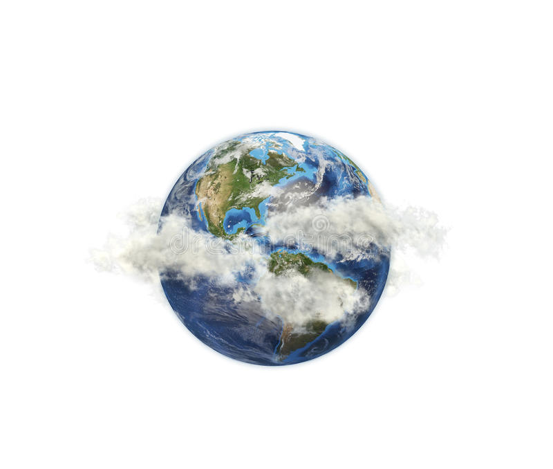 Planet among the clouds royalty free stock photo