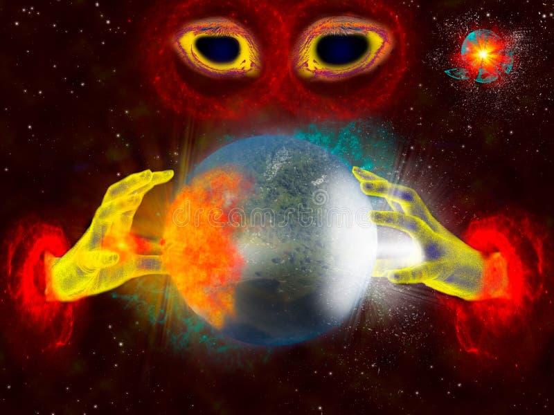Planet Crusher stock illustration