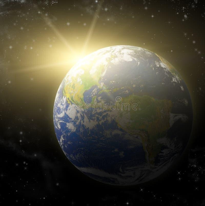 Planet der Erde-3D vektor abbildung