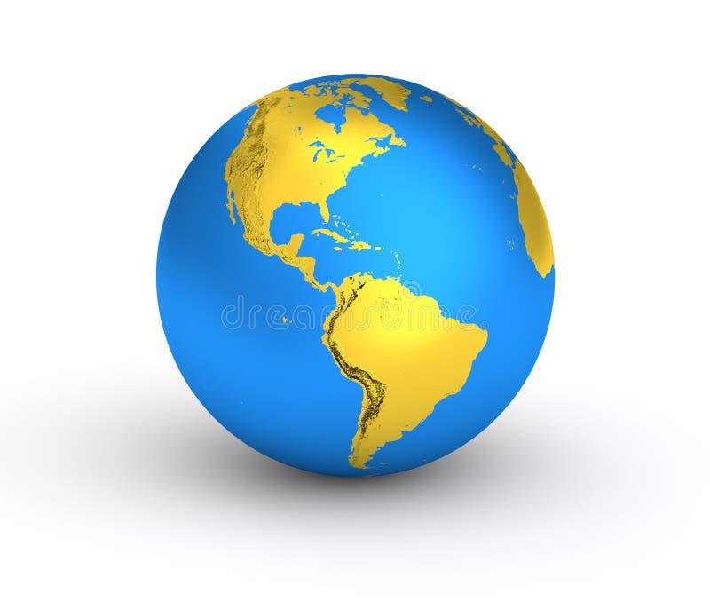 Planet der Erde 3d stock abbildung