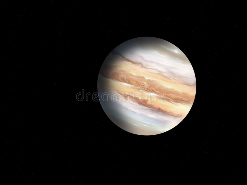 Planet der Jupiter stock abbildung