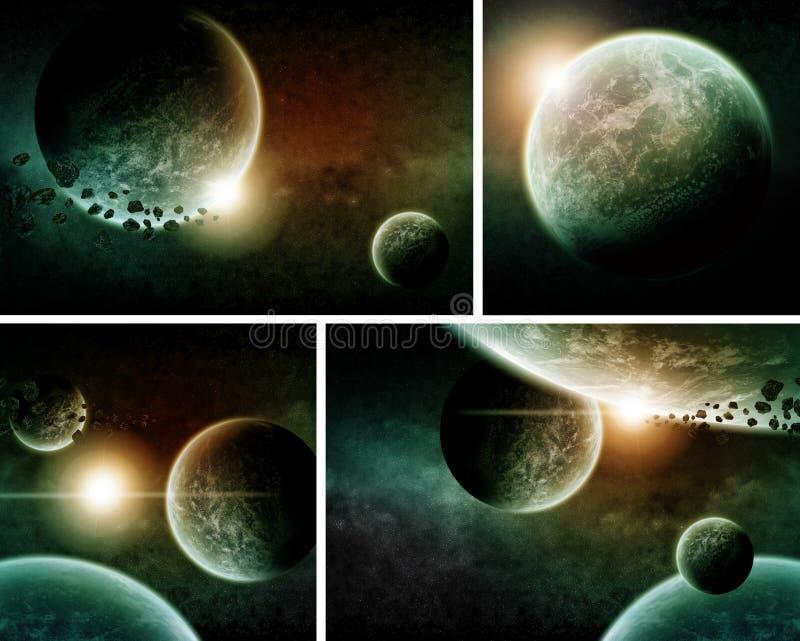 Planet Eart Apocalypse pack royalty free illustration