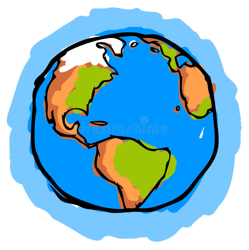 Planet Earth royalty free illustration