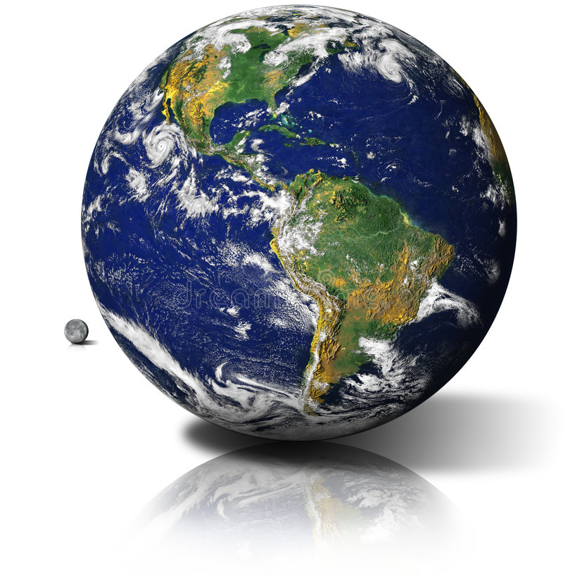 Planet Earth. Colorful image of planet Earth against white background; photo edited in Photoshop CS3