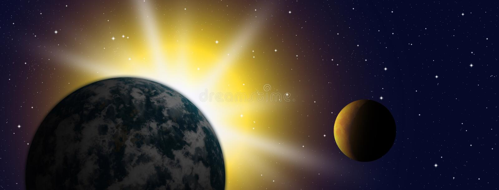 The Planet earth stock illustration