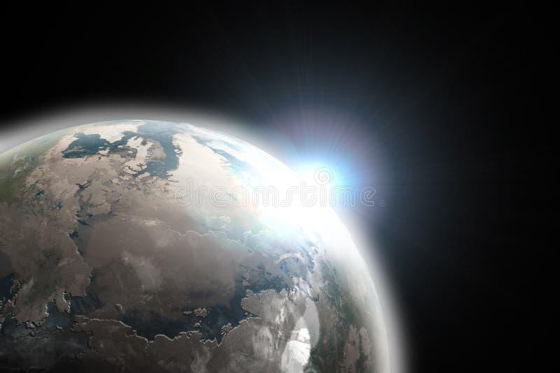 Download Planet earth stock illustration. Image of sunset, emerging - 9960471