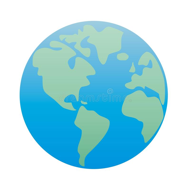 Download Planet Earth America; Green & Blue Vector Isolated Stock Photo - Image: 18273684