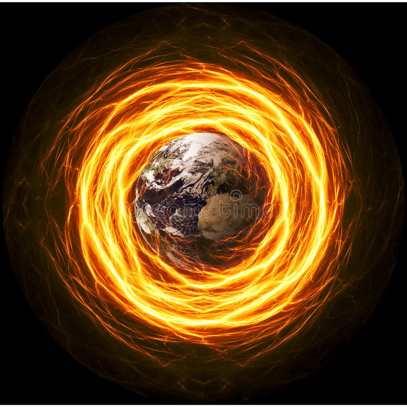 Planet Earth Apocalypse stock illustration