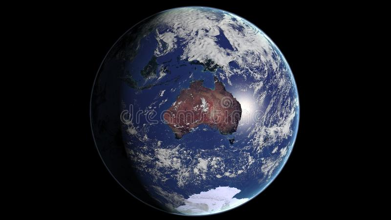 Download Planet Earth: Australia stock illustration. Image of ocean - 13886452