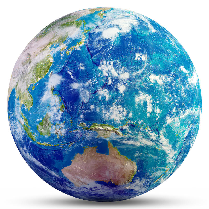 Planet Earth - Australia and Oceania. Elements of this image furnished by NASA. 3d rendering stock photos