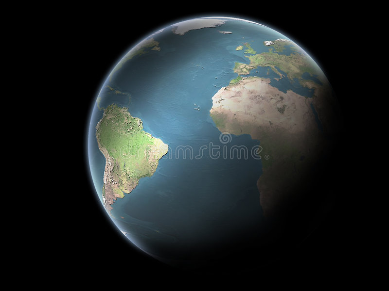 Planet Earth without clouds royalty free stock image