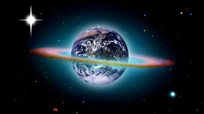 Planet Earth creation of the world stock illustration