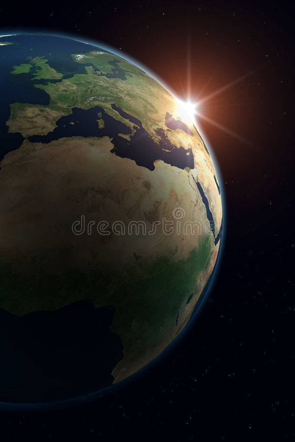 Planet Earth - Europe Royalty Free Stock Photos