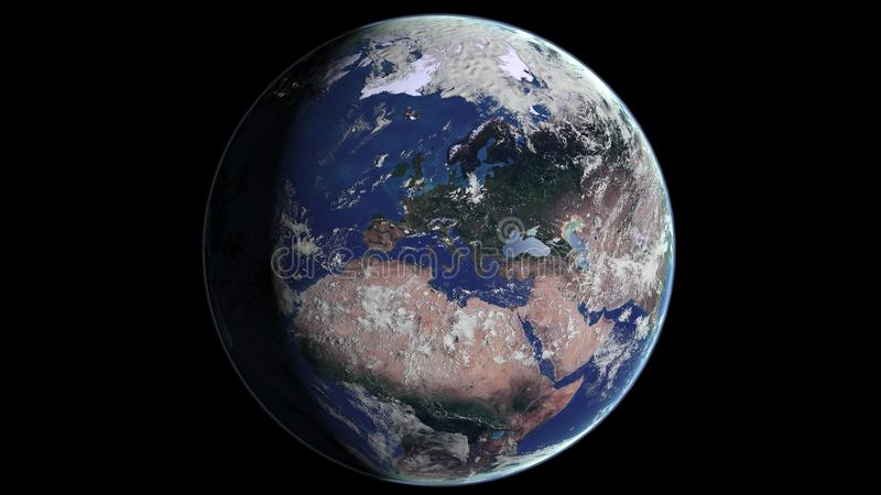 Planet Earth: Europe royalty free illustration