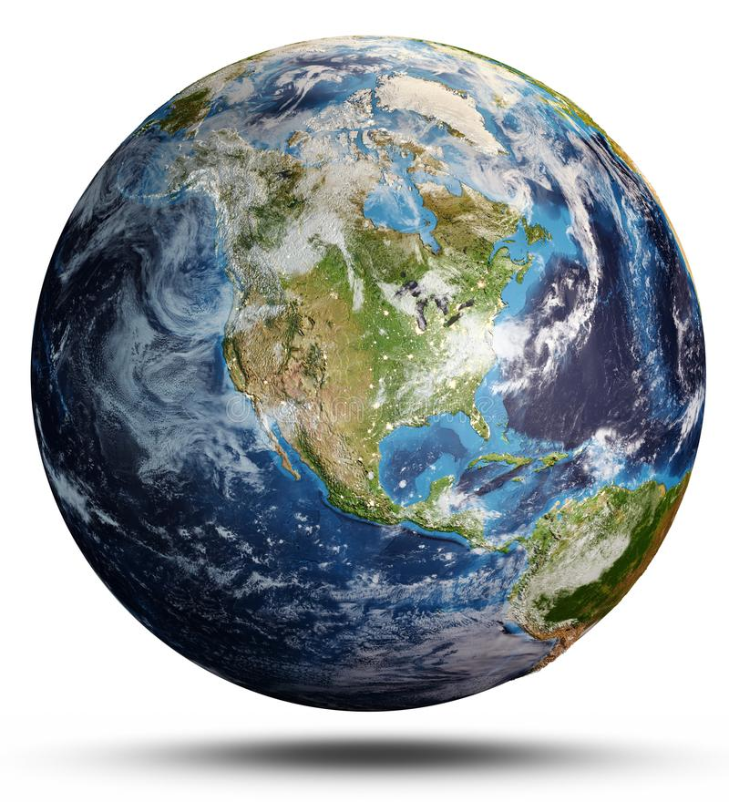 Free Planet Earth From Space. 3d Rendering Stock Images - 115012164
