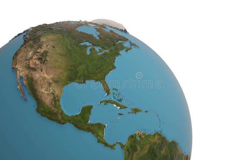 Planet earth globe isolated on white background 3D illustration stock illustration