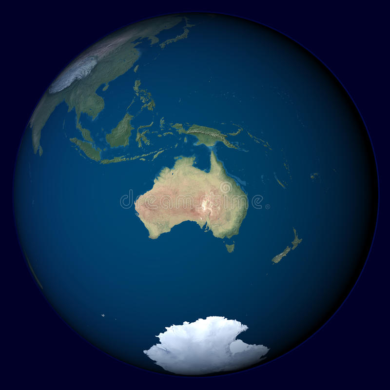 Download Planet Earth With Highlight In Australia Royalty Free Stock Images - Image: 20262499