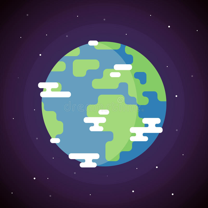 Planet Earth Icon stock illustration