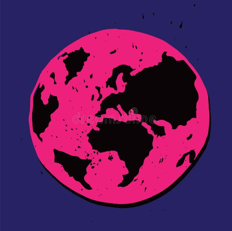 Planet Earth Illustration stock photos